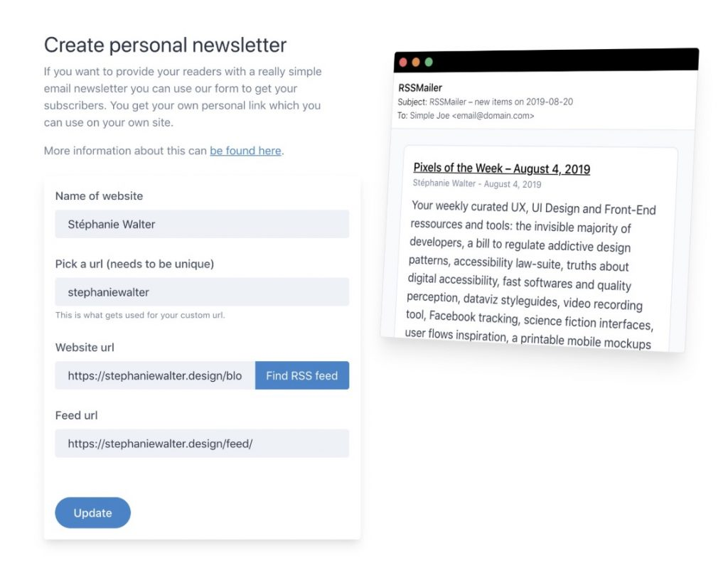 Abonnement Rss par mail