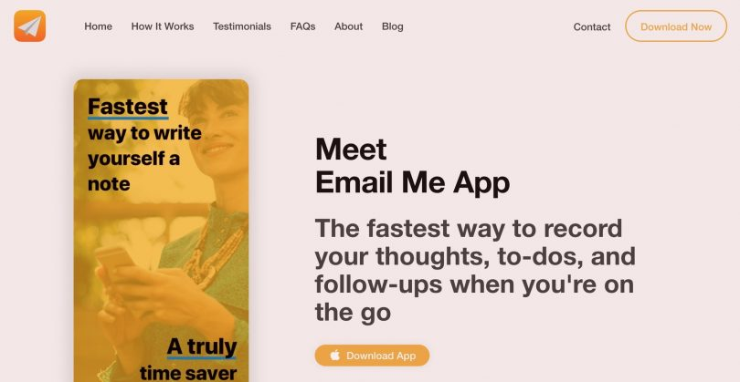 Email Me app