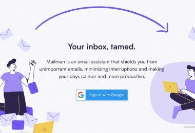 Mailman page d'accueil
